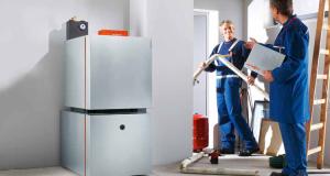 Installationsvorschlag: Niedertemperatur-Gas-Heizkessel Vitogas 200-F