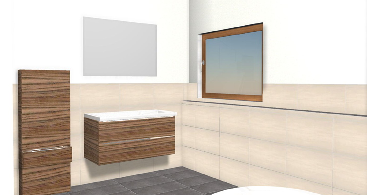 Badsanierung: Schritt 2 - 3D-Badplanung unter Berücksichtigung der Kundenwünsche